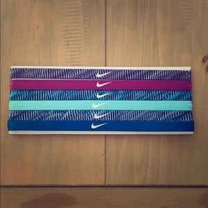 Set of 6 Nike elastic headbands